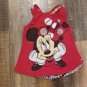 Minie mouse girls tank top